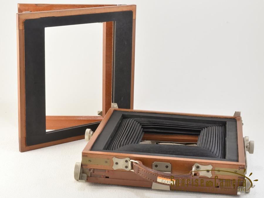 木製大判カメラ キャビネ組立暗箱 / 山崎光学 Congo 18cm F4.5